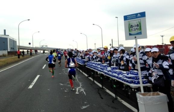 横浜マラソン2015給水