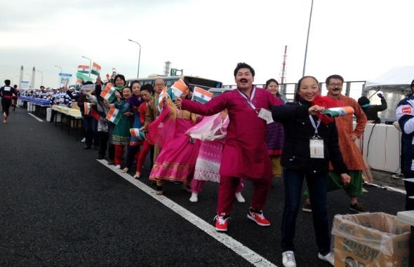 インド給水?横浜マラソン