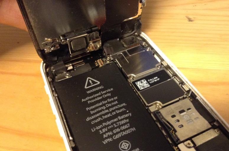 iphone5c分解 中身