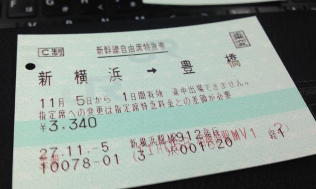 新幹線自由席