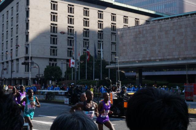 東京マラソン2016 男子先頭集団