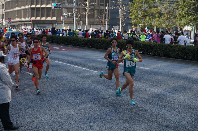 東京マラソン2016 学生トップ集団