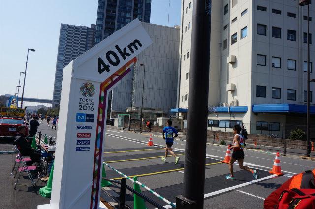 東京マラソン2016 40km地点
